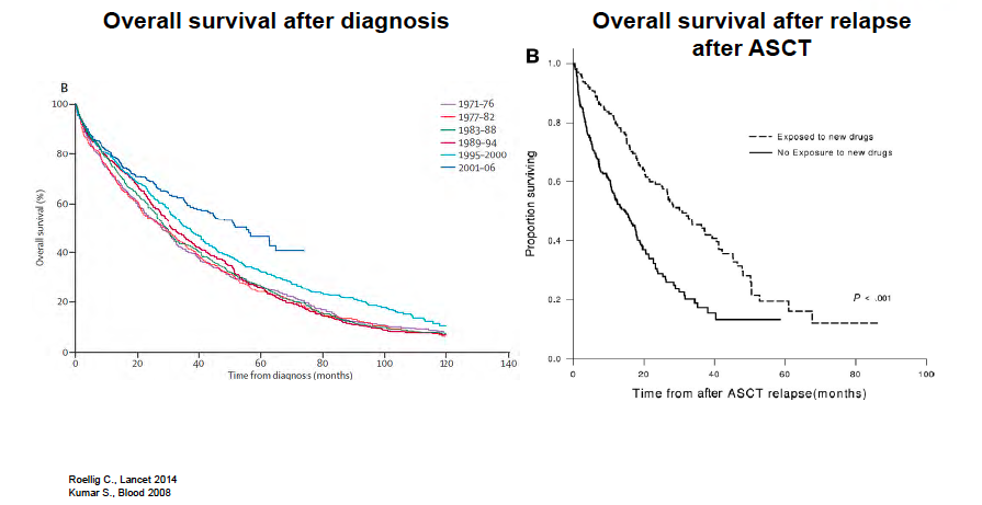 MM survival curves